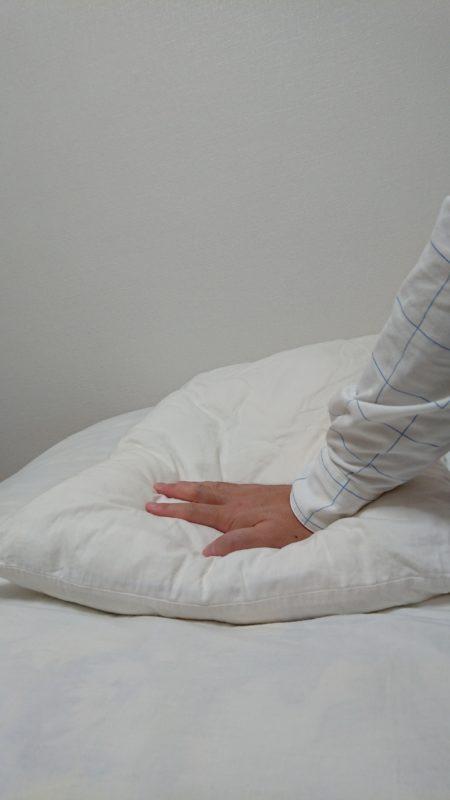枕の柔らかさ