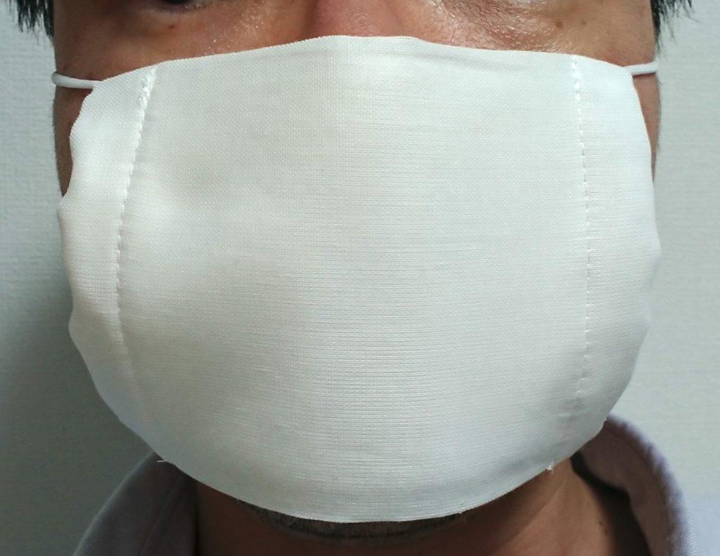 アベノマスクを着けた写真